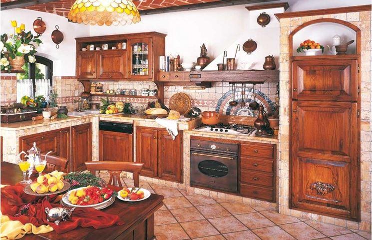 Cucina in finta muratura Favorita mobili legno noce alcea nuova da ...