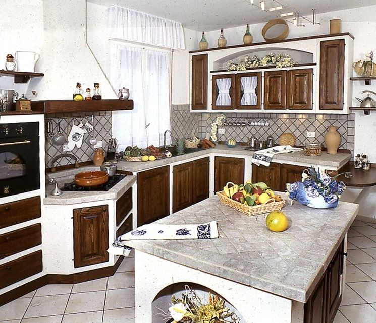 Great cucina in muratura con isola with cucina in muratura - Cucina in muratura progetto ...