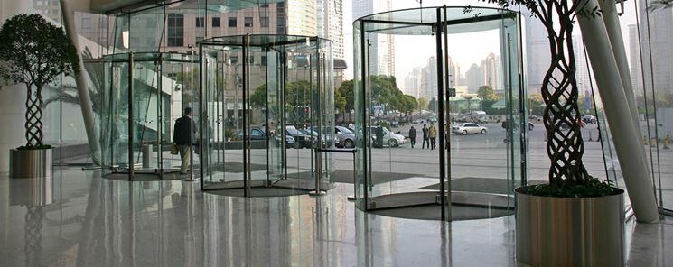 Porte d'ingresso in cristallo