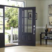 Porta in legno e vetro