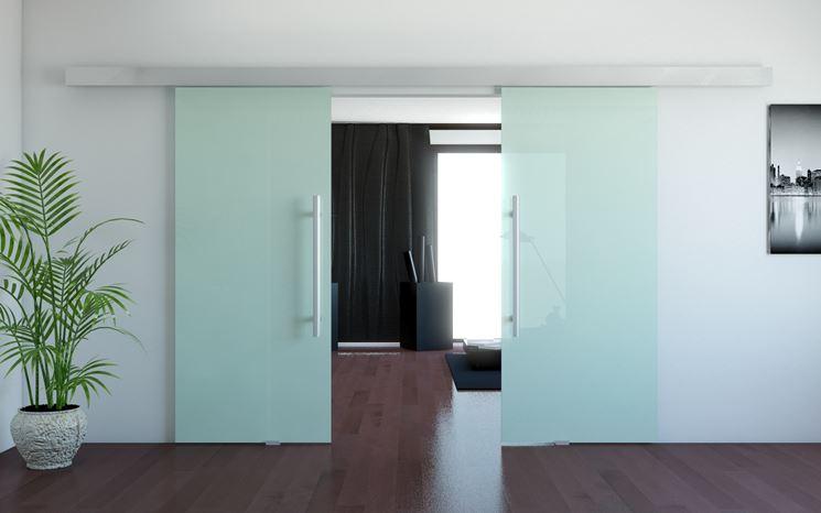 Porte scorrevoli in vetro porte interne modelli porte - Porta scorrevole vetro offerta ...