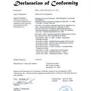 Esempio della dichiarazione di conformità in inglese