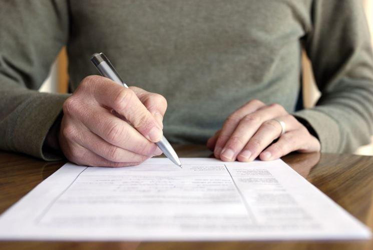 firma per la rinuncia all'eredità