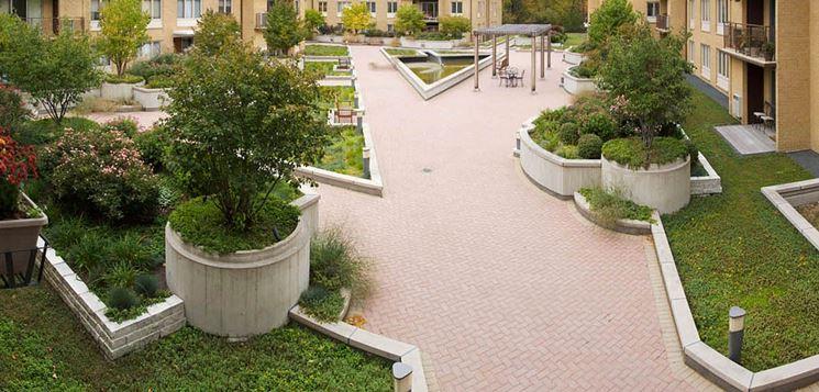Condominio con giardino comune