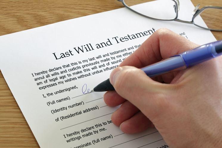 Firma del testatore