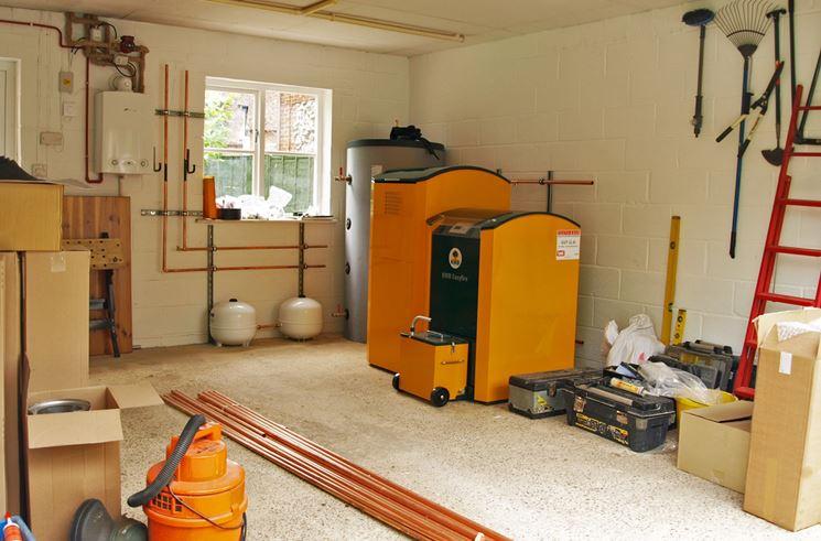 sistemare caldaia in garage