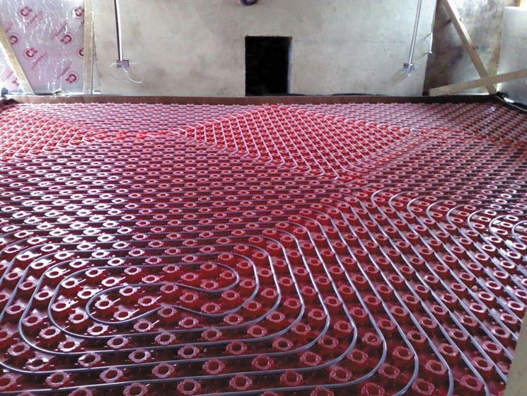 Lavori impianto pavimento