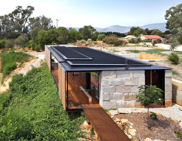 casa con riscaldamento ecologico