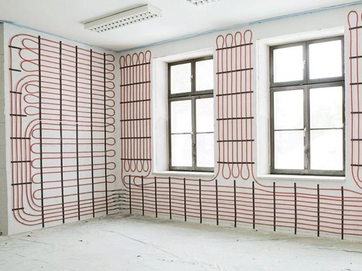 Riscaldamento radiante a muro