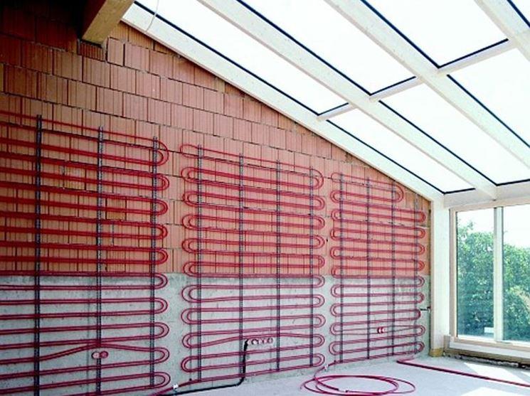 Impianto di riscaldamento a parete