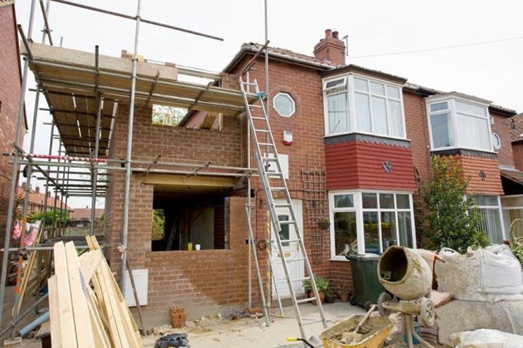 Una casa in fase di ristrutturazione