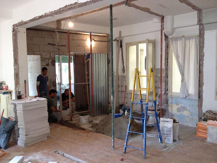 La ristrutturazione degli interni