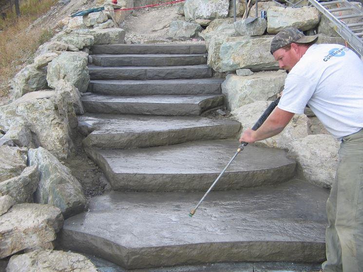 pulizia gradini in pietra