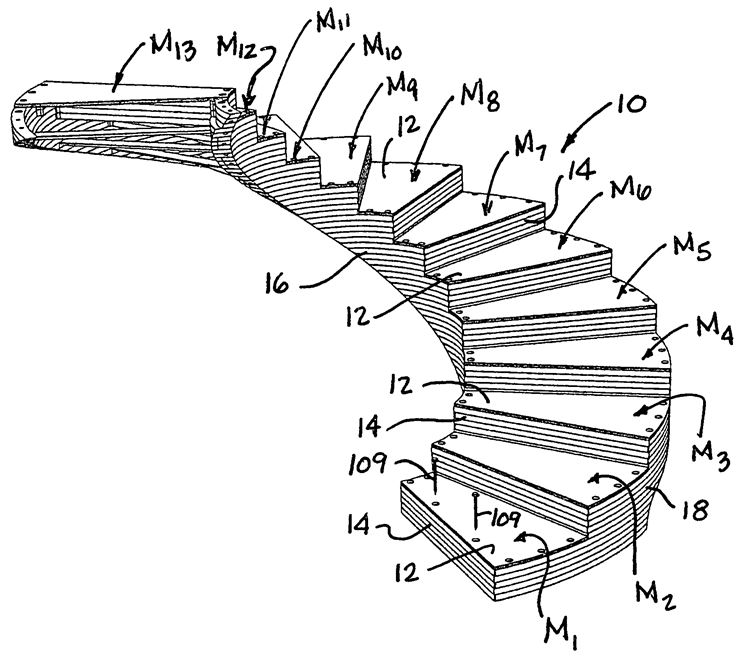 Progetto scala a chiocciola elicoidale autoportante