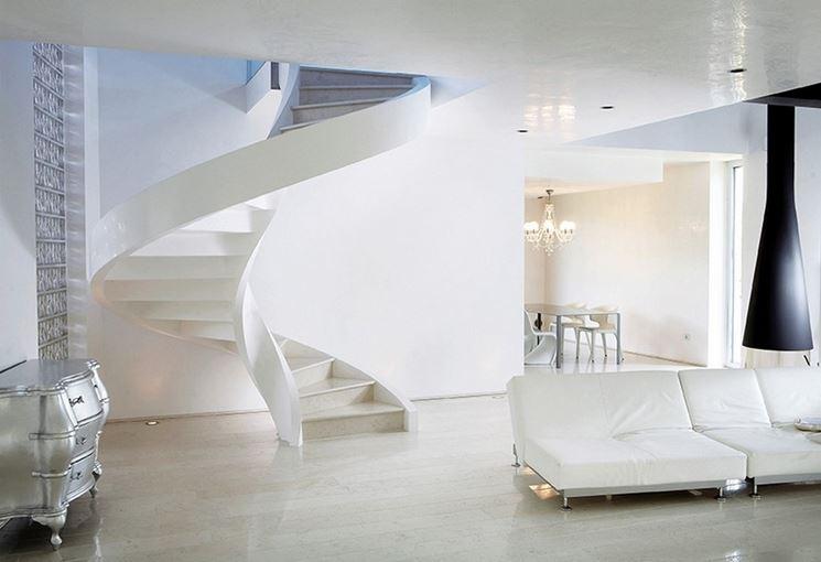 Esempio di scale autoportanti