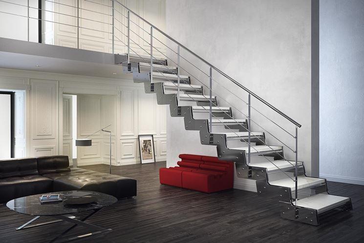 Scale in acciaio per interni scale per casa tipologie - Casa in acciaio prezzo ...