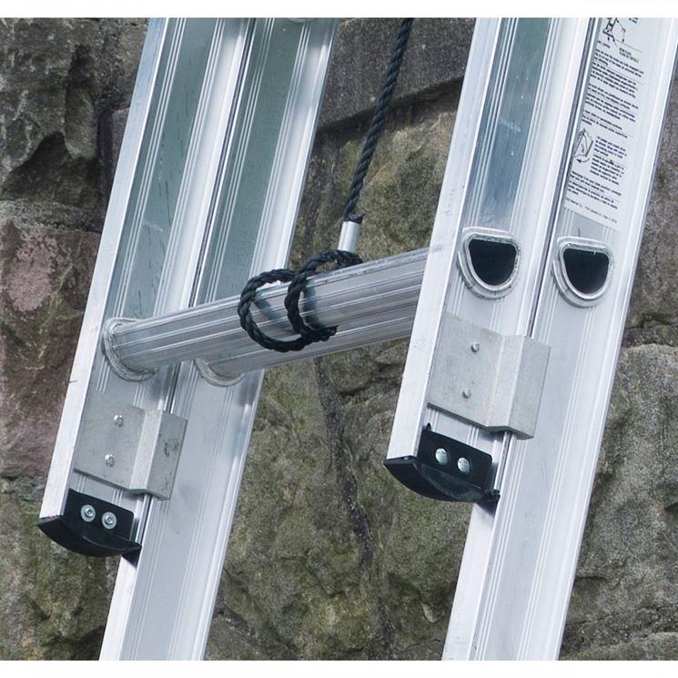 Particolare scala in alluminio allungabile