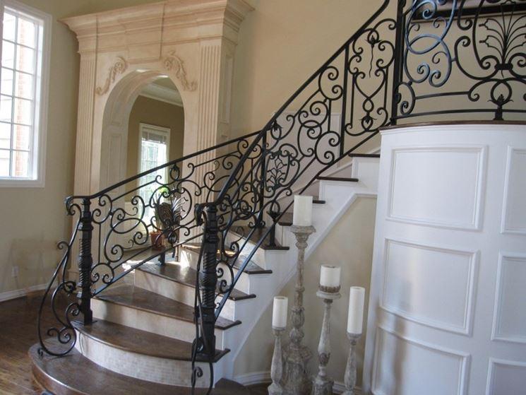 Scale in ferro battuto scale per casa materiale scala - Scale per casa ...