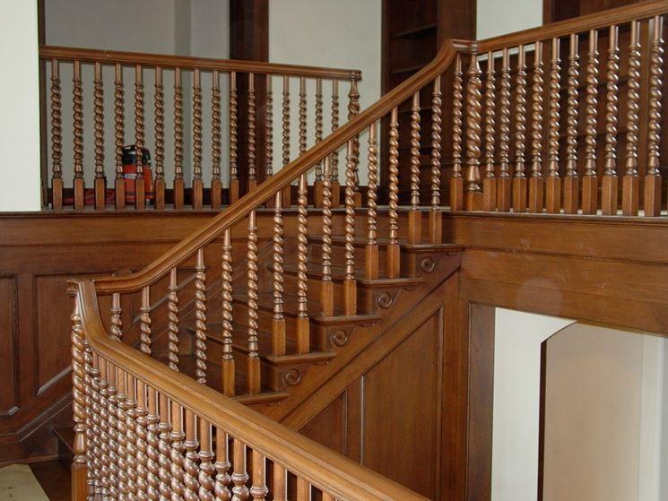 Esempio di scale in legno