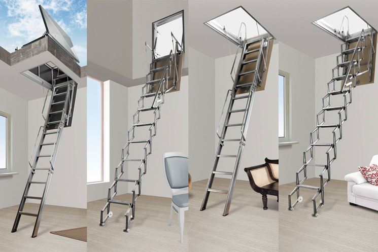 Esempi di scale retrattili
