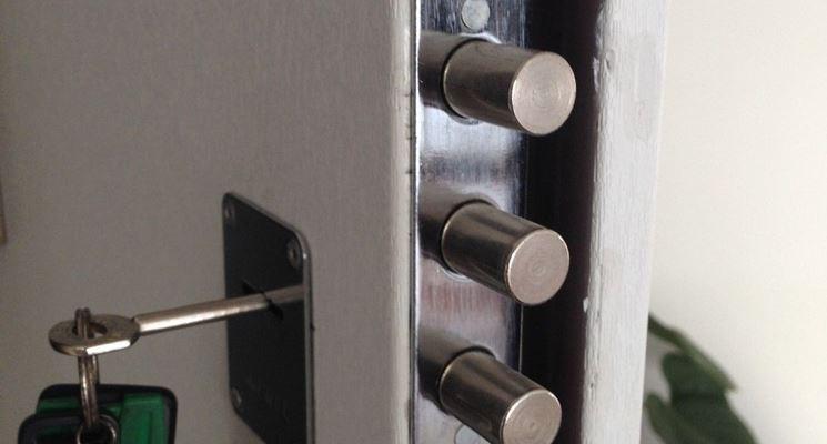 Serratura di sicurezza per porta blindata