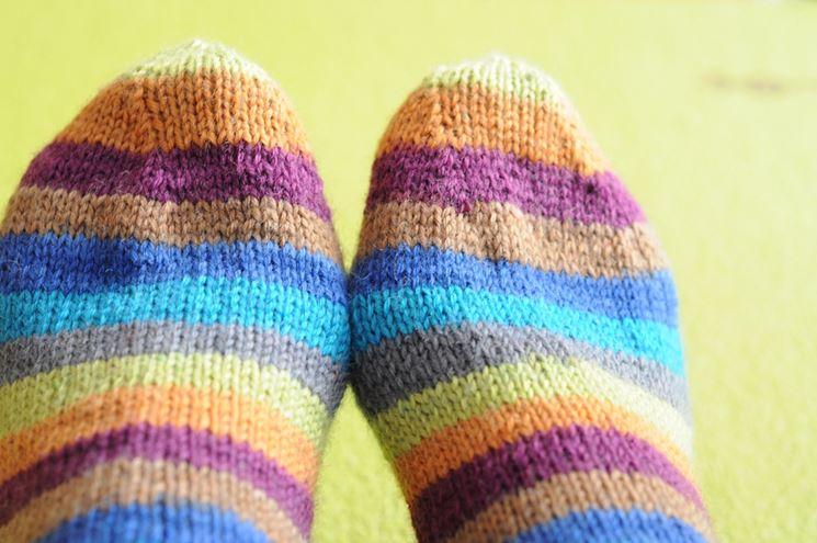 Calze colorate antiscivolo