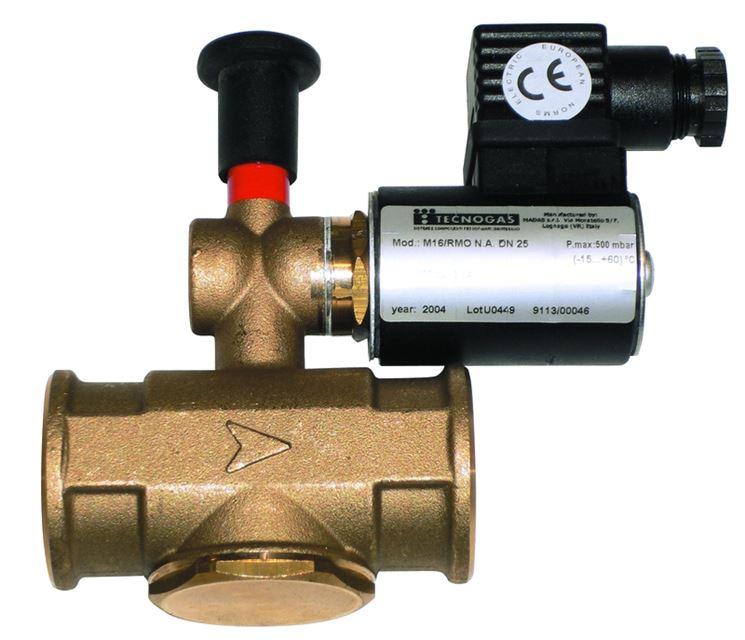 Un modello di valvola di sicurezza del gas
