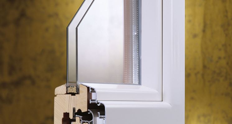 sezione finestra alluminio legno