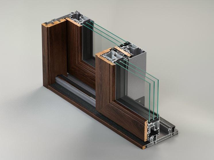 Porte e finestre alluminio legno