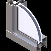 Taglio di finestra in alluminio anodizzato