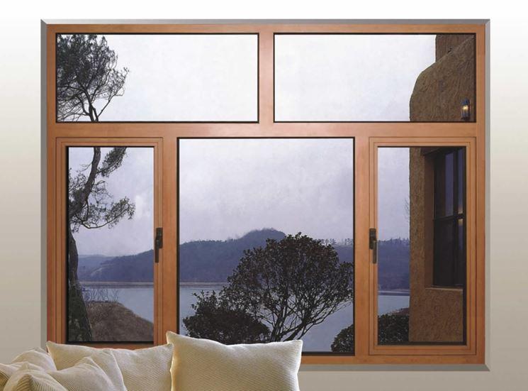 Ampia finestra in alluminio