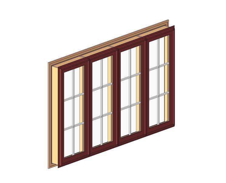 Modello 3D finestre in legno dwg