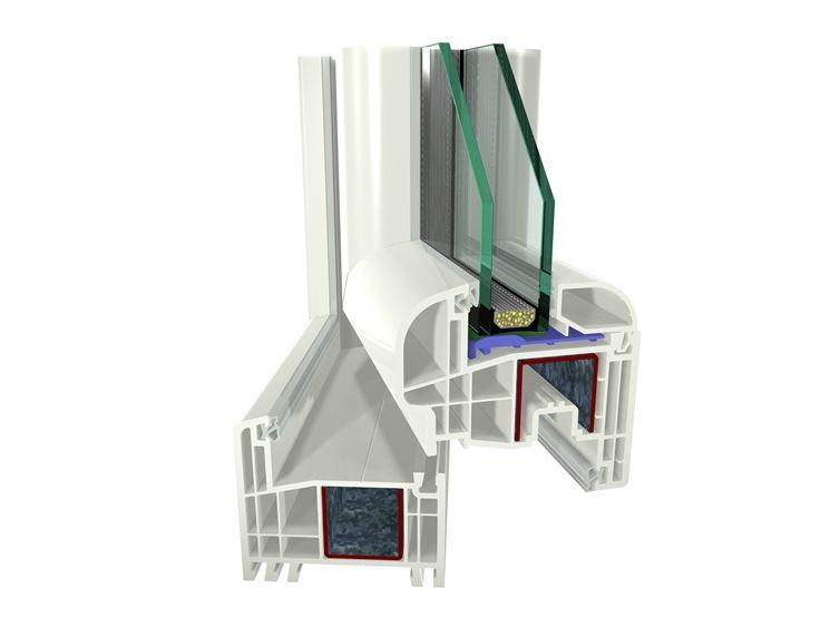 La struttura di una finestra in PVC