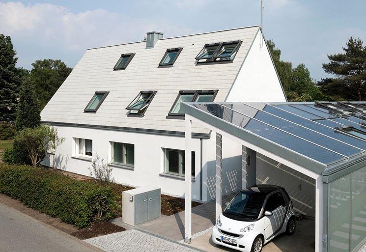 Casa con finestre nel tetto