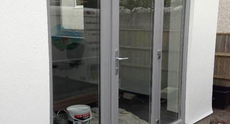Finestra PVC grigio alluminio