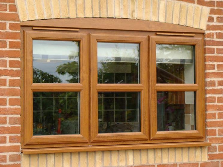 Finestra PVC effetto legno