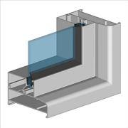 Profilo di un infisso in alluminio