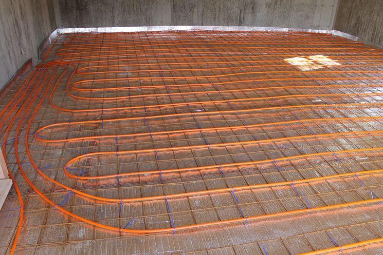 Pavimento con impianto radiante