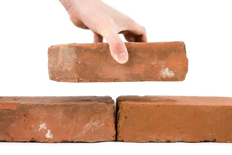 Posare un muro di mattoni