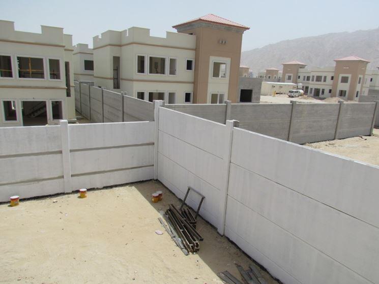Muri di cinta in elementi prefabbricati
