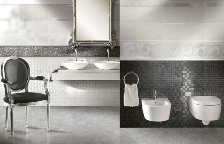 Esempio di ceramiche per bagni