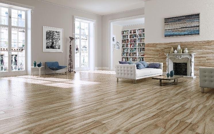 Pavimento in gres porcellanato effetto legno