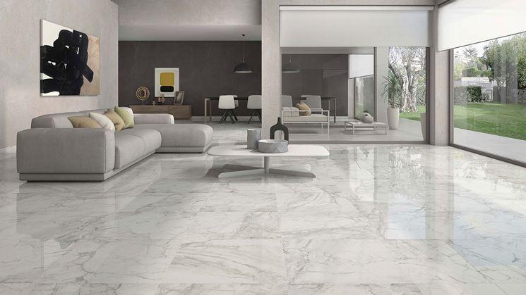 gres porcellanato finto marmo