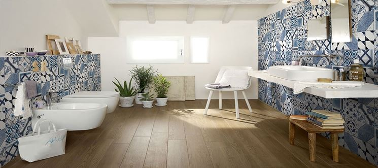 Piastrelle bagno le piastrelle pavimento bagno - Come posare piastrelle bagno ...