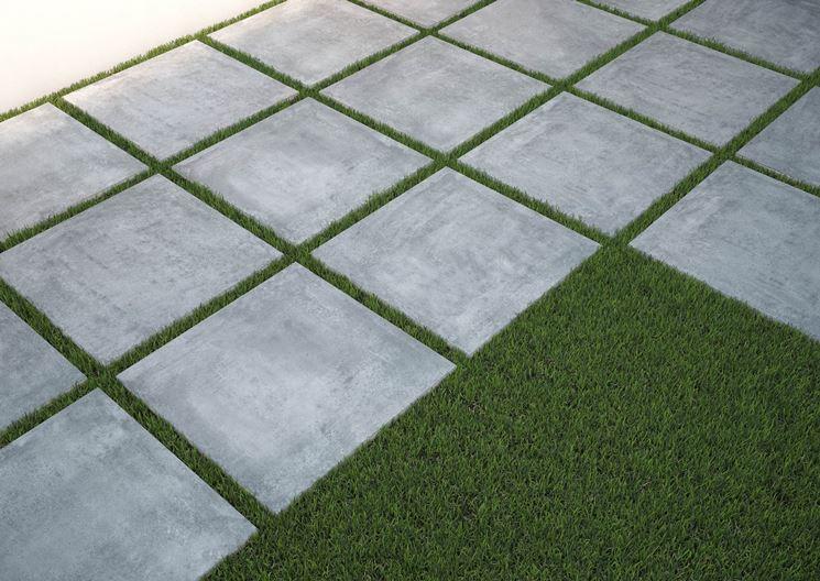 Piastrelle da giardino le piastrelle pavimentazione - Piastrelle di cemento da esterno ...