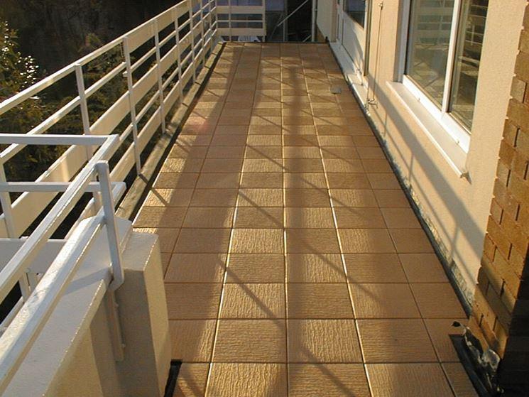 Esempio di piastrelle per balconi