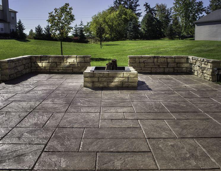 Piastrelle per terrazze le piastrelle scegliere le - Rimuovere cemento da piastrelle ...
