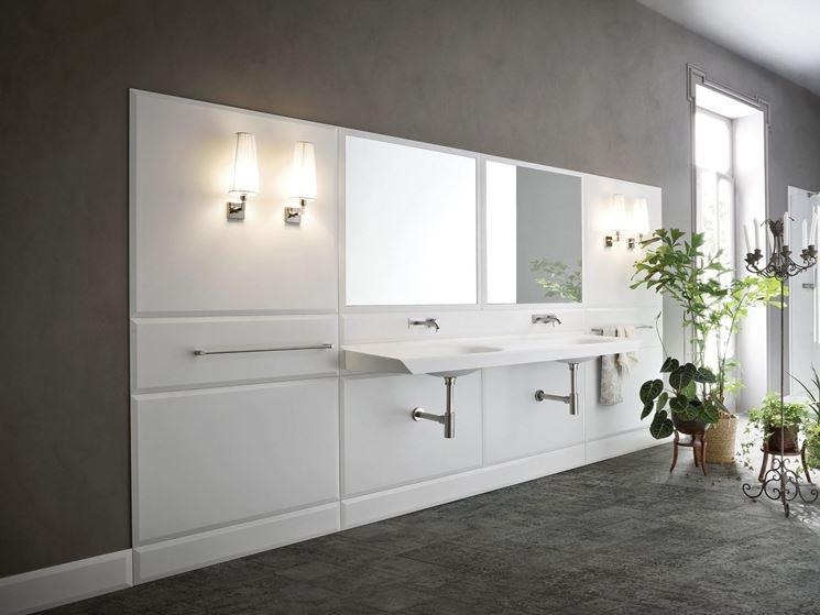 parete bagno in corian