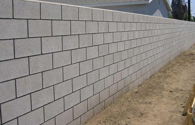 Muro di blocchi calcestruzzo