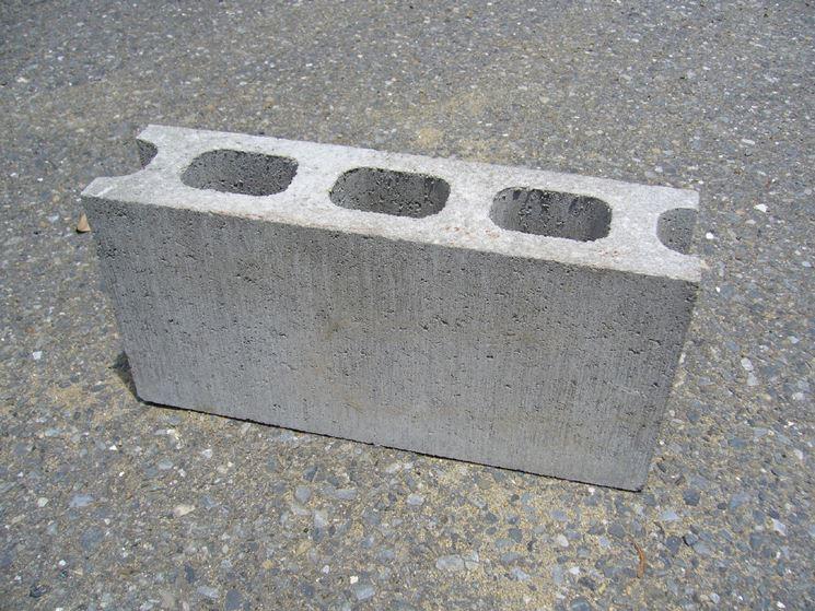 Un blocco di calcestruzzo